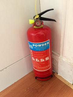 Fire extinguisher present in accomodation