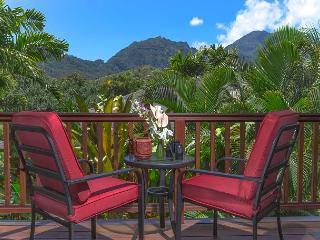 15% off available June-August! Hanalei Waterfalls, Mountain Views, with A/C!