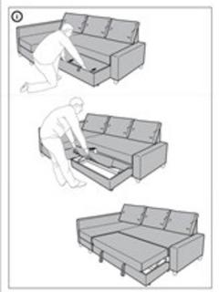 How to open sofa bed.