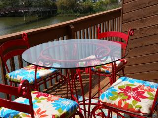 Enjoy your morning coffee or Happy Hour beverages on your private bay front balcony.