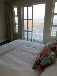 Top room doors open to lovely sea view