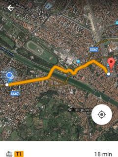 percorso dalla stazione in tranvia