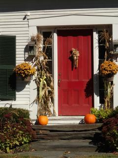 Our front door is original to the house, which dates back to the Civil War.