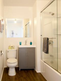 New tub, vanity and toilet