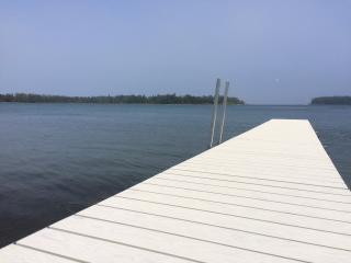 REMODELED, 250' WATERFRONT, 6 Wooded Acres, New Dock, Huge Deck, Sister Bay