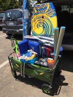 Provided beach supplies