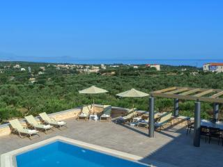 New stonebuilt villa Aria 5km from the beach, Asteri