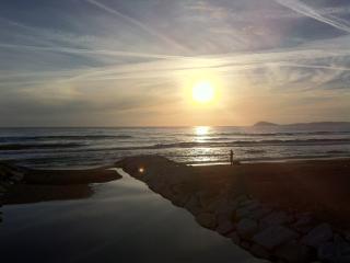 The sea..