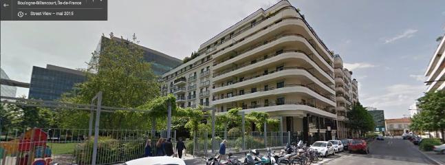 Appartement de standing avec vue sur un parc.