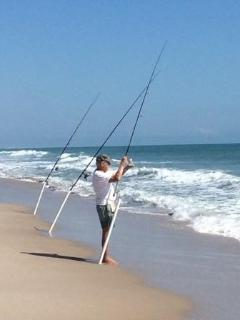 More fishing on your own private beach