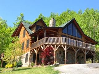 5 BR Upscale Mountain Log Home - Great Views, Black Mountain