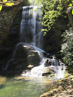 The Upper Catawba Falls - about a 30-45 minute hike from the community trails.
