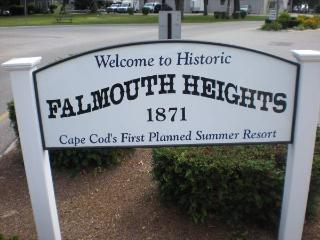 Barefoot steps to Falmouth Heights Beach