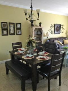 Wall Décor in Dining Room and Living Room.