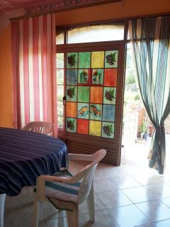 Veranda: vetrata dipinta
