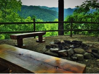 Relax at the FirePit on the Rustic Benches and Inspiring Views!