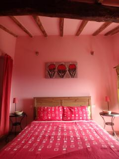 Specious double bedroom with a panoramic sea/town view