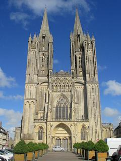 The Cathedral at Coutances along with shops, bars restaurants and bistros for a day out just 30 mins