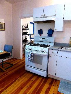 kitchen facing bedroom/living room