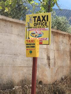 Taxi call button directly outside the villa