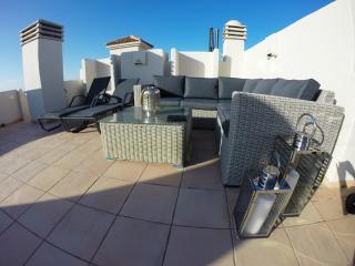 Comfy seating & 4 sun beds