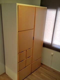 Armario de Habitación con literas y cama de arrastre
