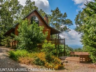 SUNSET RIDGE- 3 BEDROOM 3 BATH CABIN WITH A BEAUTIFUL 3 STATE MOUNTAIN VIEW, SLEEPS 6, FOOSBALL TABLE, HOT TUB, FIRE PIT, GAS AND CHARCOAL GRILLS, WIFI, HORSE SHOE PIT, STARTING AT $135 A NIGHT!, Blue Ridge