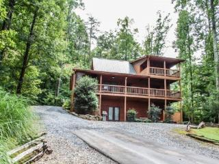 UP THE CREEK- 2BR/2BA, LUXURY LOG CABIN WITH STUNNING MOUNTAIN VIEWS, CREEK FRONTAGE, JETTED TUB IN MASTER SUITE, HOT TUB, PING PONG, FOOSEBALL, GAS LOG FIREPLACE, WIFI, STARTING AT $125/NIGHT!, Blue Ridge