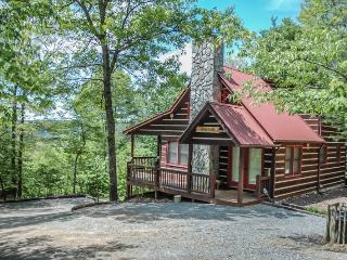 THE LONG VIEW- SECLUDED WITH BREATHTAKING MOUNTAIN VIEWS ,WiFi , AIR HOCKEY, FOOSBALL, LARGE PRIVATE HOT TUB, WOOD BURNING FIREPLACE, FIRE PIT, SCREENED PORCH OFF MASTER, SLEEPS 6, STARTING AT $127/NIGHT!, Blue Ridge