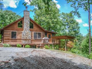 BARE-N-THE-WOODS- 2BR/2.5 BA- TRUE LOG CABIN WITH AWESOME VIEWS OF LAKE BLUE