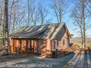 CABIN SWEET CABIN- 2BR/2BA- BREATHTAKING MOUNTAIN VIEW CABIN SLEEPS 6, SAT TV, GAS LOG FIREPLACE, AND A HOT TUB! STARTING AT $110 A NIGHT!, Blue Ridge