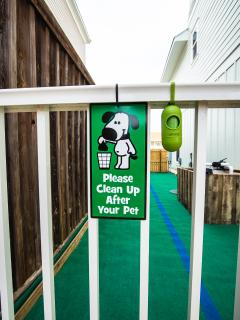 Safe, enclosed dog run gives your 4-legged kids a space of their own but still keeps them close.