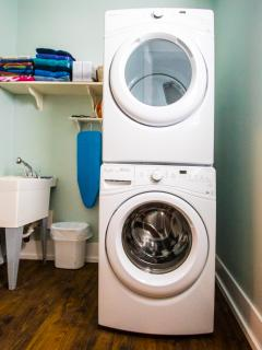 Two laundry rooms for your convenience.