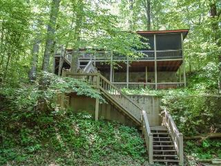 DEEPWATER LODGE- 4BR/2BA- CABIN ON LAKE BLUE RIDGE SLEEPS 8, PRIVATE DOCK, WOOD BURNING FIREPLACE, HOT TUB, POOL TABLE, AND A SCREENED PORCH! STARTING AT $185 A NIGHT!, Blue Ridge
