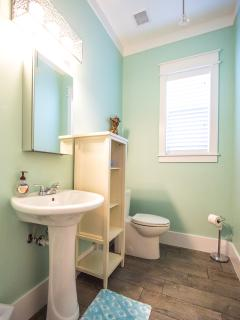Powder room on first floor so nobody has to share their personal bathroom with other house guests