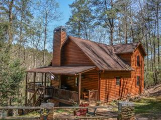 R&R; RIVER RETREAT- 4BR/3BA, HOT TUB, 6 MAN SAUNA, 315 FT RIVER FRONTAGE, FOOSBALL,WET BAR,SAT TV, WOOD BURNING FIREPLACE PLUS ALL RESORT AMENITIES. PETS ARE WELCOME, SLEEPS 12 & STARTS AT $190 PER NIGHT, Blue Ridge