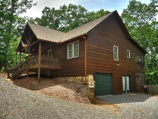DRAGON`S DEN- 3BR/3BA- CABIN IN THE COOSAWATTEE RIVER RESORT SLEEPS 6, PET FRIENDLY, SCREENED PORCH, GAS GRILL, WIFI, DIRECT TV, SMART TV, AND A GAS FIREPLACE. STARTING AT $115 A NIGHT!, Blue Ridge