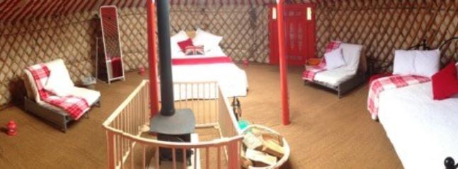 Dartmoor Yurt inside