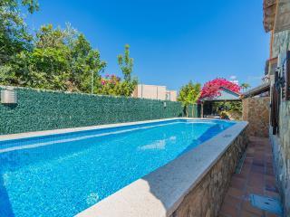 Chalet floral piscina terraza BBK