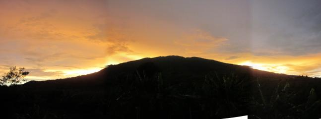 Sunset on Mt Salak from back porch