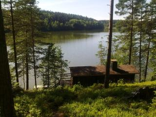 A small typical Finnish cottage by the lake, Vihti