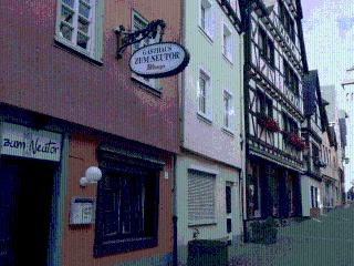 Romantic half-timbered house in the colorful city of Linz, Linz am Rhein