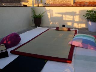 terrace sea sunset, Cuglieri