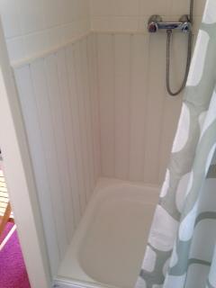 Upstairs shower room.