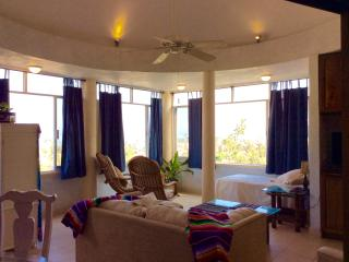 Upper suite at Villa Paloma:ocean view penthouse ., La Manzanilla