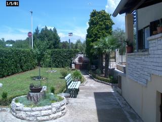 cortile con giardino