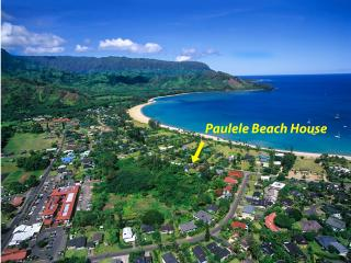 Aerial view shows proximity to town for easy walk to beach, shops and restaurants.