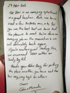 Couple's Review in our guestbook