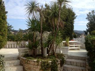 Belle terrasse   très bien équipée,au milieu d'un jardin luxuriant