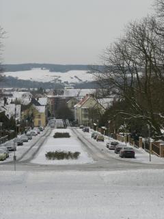 Hildesheim, vom oberen Ende der Feldstr., im Winter